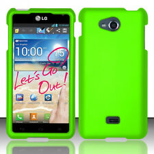 For MetroPCS LG Spirit 4G MS870 Rubberized HARD Case Phone Cover Neon Green