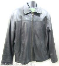 Leather Limited Men's Black SOFT Leather Jacket Coat zip out winter lining L VTG