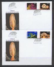 Romania 2002 Corallo/Vita Marina/NATURA 4 V FDC (2) b6904