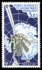 STAMP / TIMBRE TERRES AUSTRALES / T.A.A.F. PA N ° 69 ** ESPACE SATELLITE