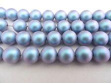 10 Iridescent Light Blue Swarovski Crystal Beads Pearls 5810 - 10mm