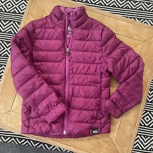 REI Kids 8 Small Girls Excellent Down Puffer Outdoor Jacket Youth Coat Snow Camp