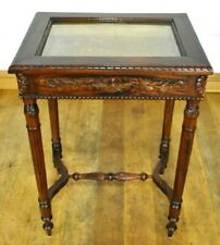 Antique style display cabinet - glazed bijouterie table