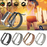 For Xiaomi Mi Band 2 Smart Bracelet Stainless Steel Watch Band Strap Metal Bs