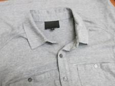 Quinn Gray Solid Button Front Casual Shirt Medium