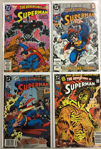 SUPERMAN -THE ADVENTURES OF Comics DC x 4 Lot issue # 470 #471 #485 #491 VF+