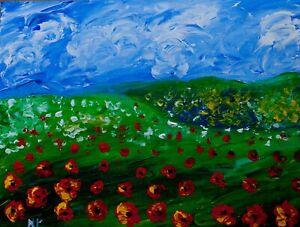 poppy filed Natasha Petrosova Original  Painting Impressionism 240