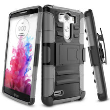 Heavy Hybrid Impact Rugged Rubber Shockproof Hard Armor Case Cover for LG G5 Gray