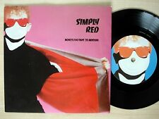 "Simply Red Money's Too Tight (To Mention) Die Cut UK 7"" Elektra 1985 NM"
