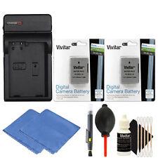 2 Vivitar EN-EL14a Battery Packs + Charger Kit for Nikon D5500 D5300 D5200 D5100