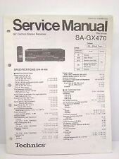 Technics Original Service Manual SA-GX470 Receiver