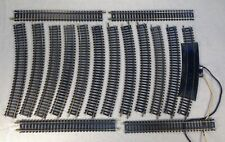 VG Vintage Tyco HO Scale 16 Piece Track With Re-railer Curve Track & Joiners