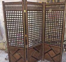 Handmade Room Divider Screen (3 Panel) with Hand Work Arabesque