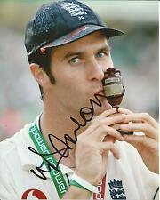 Hand Signed 8x10 photo - MICHAEL VAUGHAN - ENGLAND ASHES CRICKET + my COA