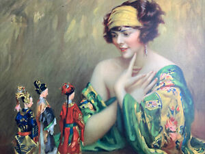 1920's Pin Up Flapper Girl Art ORIGINAL Print Gypsy Mysteries Of The Orient 1926
