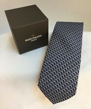 PATEK PHILIPPE 2017 Men's Neck Tie Watch Italian Silk Watch Collectible Blue NIB