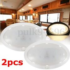2X12V LED Dome Light Cabin Ceiling Lamp Caravan Camper Trailer Car RV Warm White