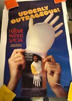 HOWIE MANDEL Special Fits Like A Glove Poster VHS Video Store Vintage Rare 1983