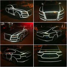 REFLECTIVE TAPES HIGH QUALITY SELF-ADHESIVE FOR AUTOMOTIVE/CAR 1CMX46M WHITE