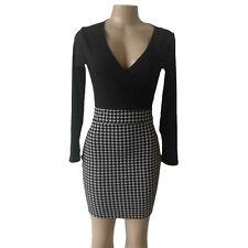 Damen Kleid Abendkleid Party Mini Kleid Business Bleistiftkleid V-Ausschnitt