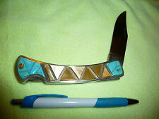 Robert Druzd Inlay Gold MOP Satin Blade Unbelievable High End One Of A Kind WOW!