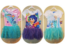 *NWT - DISNEY, MLP - GIRL'S VELOUR TIERED TUTU DRESS - LICENSED