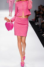 $1495 MOSCHINO Couture Jeremy Scott BARBIE Pink SWAROVSKI Stones Diamonds Skirt
