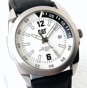 CAT Diesel Power PF 141 Quartz Date Designer Cream Dial Men's Watch Case 41mm