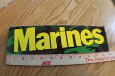 "Green Camo ""MARINES"" bumper Sticker United States Marines"