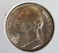 1944 Jefferson BU Nickel Nice coin from roll (1 coin) free combined