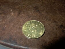 BRASS VINTAGE HEAD YOU WIN  AND TAIL YOU LOSE COIN