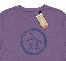 Men's PENGUIN Vintage Logo Purple T-Shirt Tee Shirt Large L NWT NEW