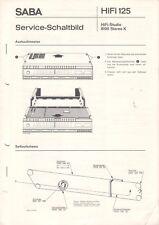 SABA - Hifi 125 - HiFi-Studio 8100 Stereo K - Service-Schaltbild - B3818