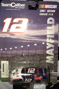 NASCAR 1:64 Die-cast Jeremy Mayfield #12 Mobil 1 2001 Issue #15 Team Caliber