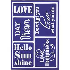 Hello Sunshine Flexible Self Adhesive Stencil Sheet For Paper Wood Crafts 21 cm