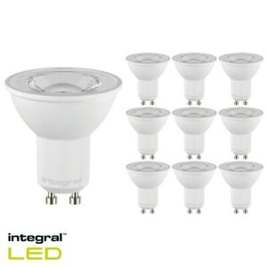 Pack of 10 x Integral Led GU10 PAR16 6W (75W) 6500K 640lm Dimmable Lamp