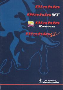 brochure folder 1997 LAMBORGHINI DIABLO, DIABLO VT, DIABLO SV & ROADSTER !!!
