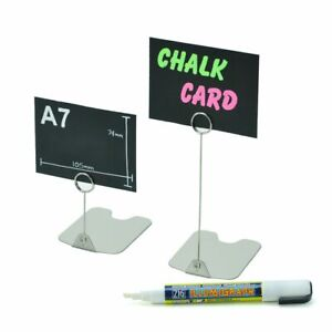 Stainless steel ticket stand food counter display price card holder butchers