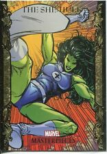 Marvel Masterpieces 2007 UD Gold Border Parallel Base Card #75 The She-Hulk