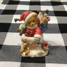 """Cherished Teddies Kris """"Up On the Rooftop� #272140 Santa w/ Toys Collectible"""