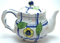 Beautiful Vintage Blue And White Floral Teapot By Seymour Mann 1994