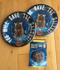 DOCTOR WHO DALEK TARDIS Party Pack / Kit -24 Plates & 50 Cupcake Cases Tableware