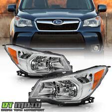2014-2016 Subaru Forester Halogen Model Chrome Headlights Headlamps Left+Right (Fits: Subaru)