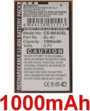 Batería 1000mAh tipo BL-4U MP-S-V Para Nokia 8800 Sapphire Arte