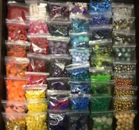~9 POUNDS OF BEADS JEWELRY MAKING SUPPLIES CRAFTS PLASTIC WOOD METAL GLASS SHELL