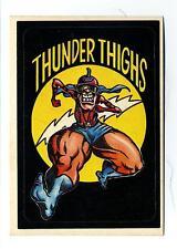General Mills / Donruss 1983 Zero Heroes Sticker Card #46 Thunder Thighs