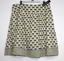 Mix Nouveau - XL  - NWT - Yellow & Gray Geometric 100% Cotton Full A-Line Skirt