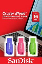 Pack 3 pendrives 16GB SanDisk Cruzer Blade