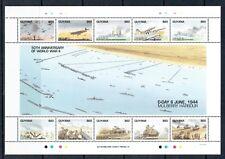 Guyana 1994 50th Anniv WWII sheetlet unmounted mint - Railway theme stamp