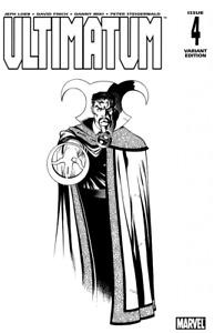 Ultimatum (2009) #4 of 5 VF/NM Ed McGuinness Sketch Variant Cover Dr Strange